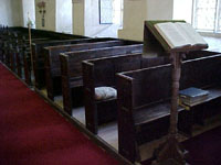 View of pews to the north of the nave.
