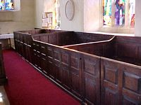 The family box pews on the south of the south aisle.