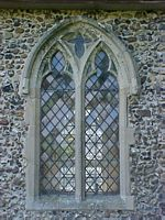 Outside view of the north chancel window.