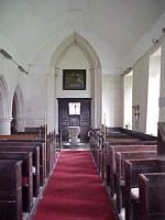 Nave looking from the chancel, westward.