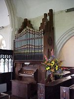 The organ was brought from Rickinghall Superior Church.