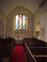 View of south aisle & side chapel.